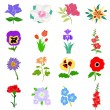 Royalty-Free Stock Vector Image: Set of flowers