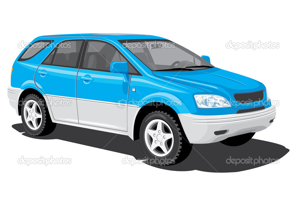 Vector isolated SUV on white background, without gradients EPS8 — Stock Vector #4791914