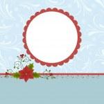 lege sjabloon voor christmas wenskaart — Stok Vektör