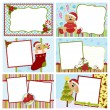 Collection of Christmas greetings cards - Stock Vector