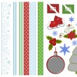 Collection of christmas scrapbook decors - Stock Vector