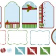Collection of christmas tags — Imagen vectorial