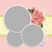 Blank wedding photo frame or postcard — Stock Vector