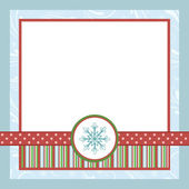 Blank template for Christmas greetings card — Stock Vector
