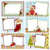 Collection of Christmas greetings cards — Stock Vector