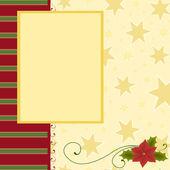 Blank template for Christmas greetings card — Stockvektor