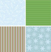 Collection of christmas seamless patterns — Stock Vector