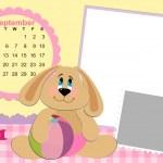 Baby's monthly calendar for september 2011's — Stock Vector