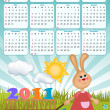 Baby's calendar for 2011 — Stock Vector