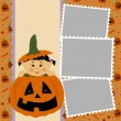 Stock Vector: Blank template for Halloween photo frame