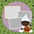 Blank template for Halloween photo frame or postcard — Stock Vector #4267830