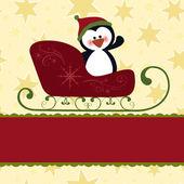 Lege sjabloon voor christmas wenskaart — Stockvector