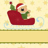 圣诞贺卡的空白模板 — 图库矢量图片