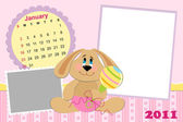 Baby's monthly calendar for january 2011's — Vector de stock