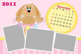 Baby's monthly calendar for december 2011's — Wektor stockowy
