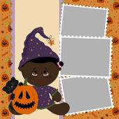 Plantilla en blanco para marco de foto de halloween — Vector de stock
