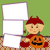 Blank template for Halloween photo frame or postcard — Stock Vector