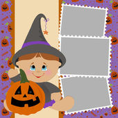 Blank template for Halloween photo frame — Stock Vector
