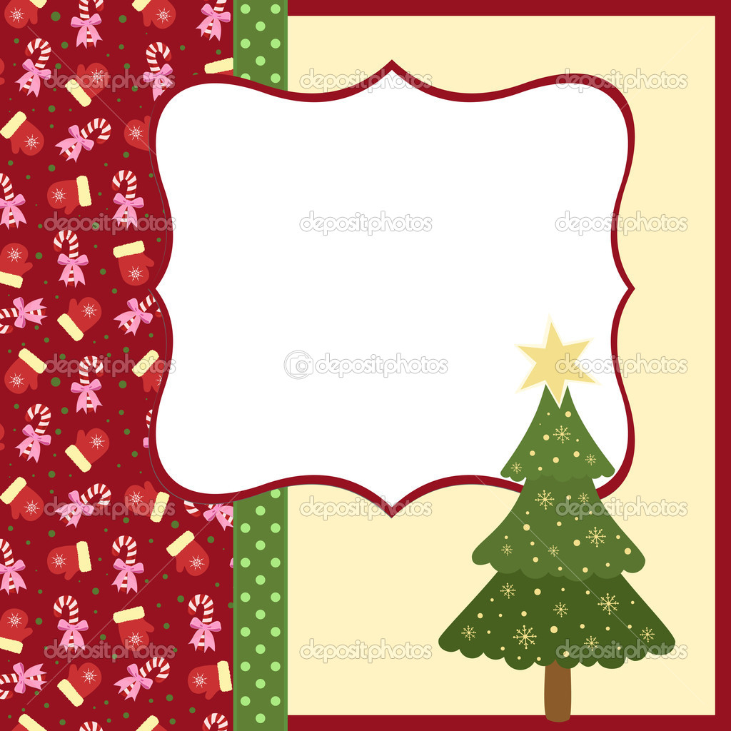 blank template for christmas greetings card stock vector blank template for christmas greetings card stock illustration