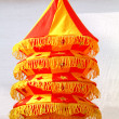 Stock Photo: Colorful fabric handicraft chandeliers