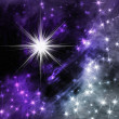 Stock Photo: Abstract star with nebula