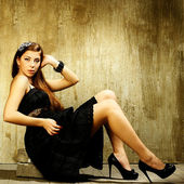 Style photo of a pretty young lady. Art photo — Stock Photo
