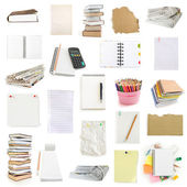 Office notebooks and pegs collection — Stock Photo