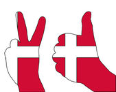Danish hand signals — Stock Photo