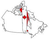 Canadian salute — Fotografia Stock