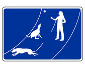 Traffic sign for dogs — Stock Photo