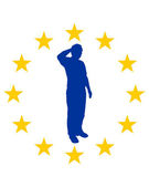 European salute — Stock Photo