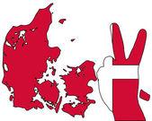 Danish hand signal — Stock Photo