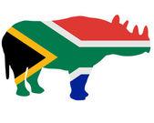 Southafrican rhino — Foto de Stock