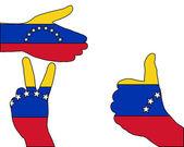 Segnale di mano del venezuela — Foto Stock