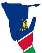 Namibia hand signal — Stock Photo