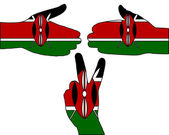 Kenya hand signal — Stock Photo