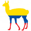 Guanaco Ecuador — Stock Photo #4896292