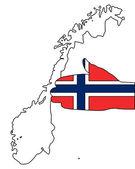 ノルウェーへようこそ — ストック写真