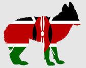 Jackal from Kenya — Stock Photo