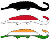 Gharial flags — Stock Photo