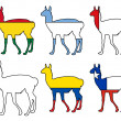 Guanaco flags — Stock Photo #5356274