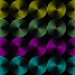 Metallic shimmering background picture out of many colored circle lines — Foto Stock #5356346
