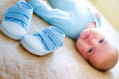 Baby's bootee — Stock Photo
