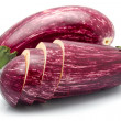 Purple sliced eggplant vegetables isolated — Stock Photo