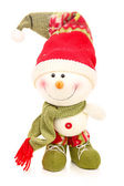 Christmas snowman isolated on a white — Stock Photo