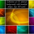 Stock Vector: Abstract backgrounds collection
