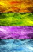 Vibrant banners — Stock Vector