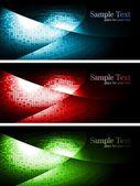 Dark contrast banners — Stock Vector
