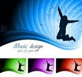 Beautiful musical backdrop — Stock Vector