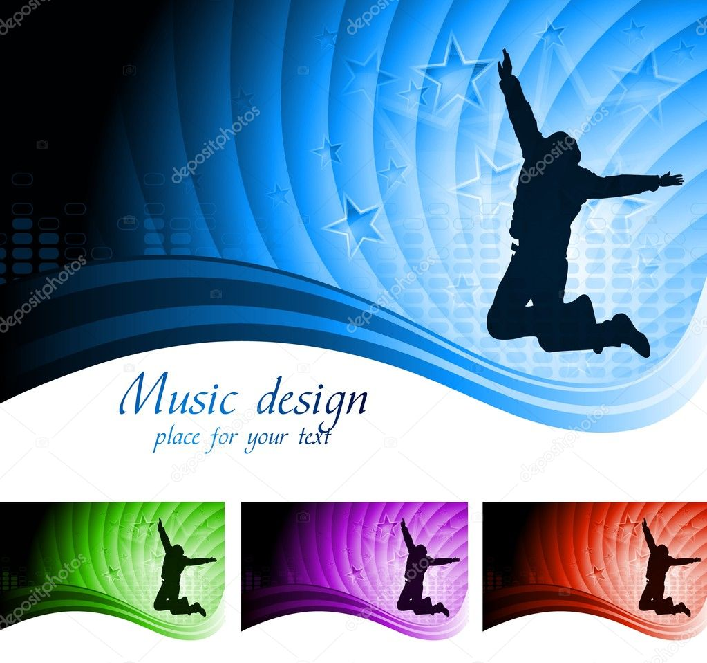 Vector illustration of abstract music design. Eps 10 — Vektorgrafik #5165329